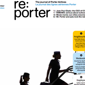 Re:Porter airlines magazine cover